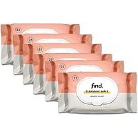 Amazon-merk: find.Reinigingsdoekjes verrijkt met arganolie (geschikt voor droge huid) - 6x25 (150 doekjes)