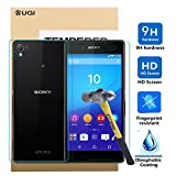Sony Xperia Z4 Screen protector, KuGi ® Ultra-thin 9H Hardness High Quality HD clear Premium Tempered Glass Screen Protector for Sony Xperia Z4 smartphone (Front and Back)