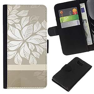 All Phone Most Case / Oferta Especial Cáscara Funda de cuero Monedero Cubierta de proteccion Caso / Wallet Case for Samsung ALPHA G850 // Floral Grey White Clean Wallpaper Pattern