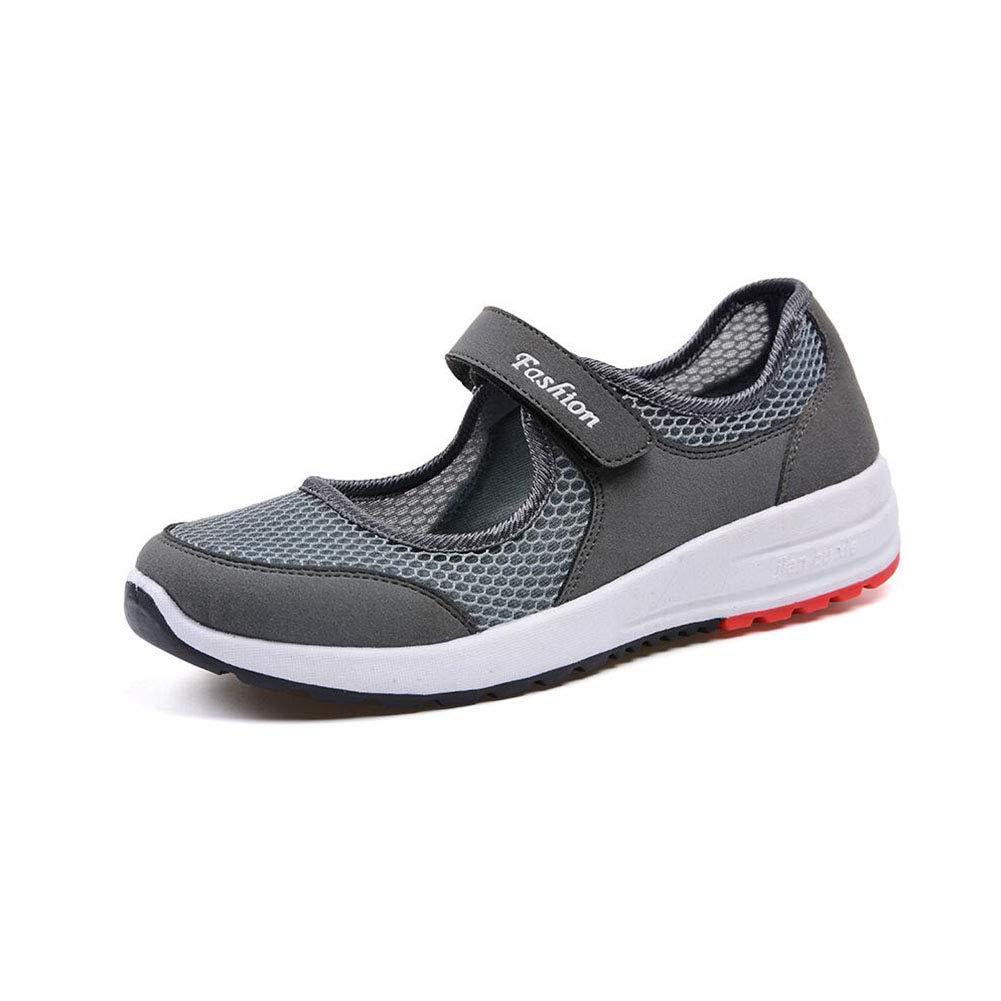 FF Alter Alter FF Mann beschuht Stoffschuhe weiblicher Breathable Flacher Boden-Bewegung Mom Walking Schuhes (Farbe : Grau, Größe : EU39/UK6.5/CN40) - bf4c72