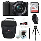 Cheap Sony Alpha a5100 Mirrorless Camera with 16-50mm Lens (Black) and 16GB Accessory Bundle