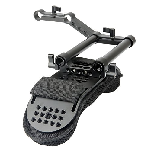 NICEYRIG Shoulder Pad with Rail Raiser /15mm Rods for Shoulder Rig System Video Camera Dslr Camcorders by NICEYRIG