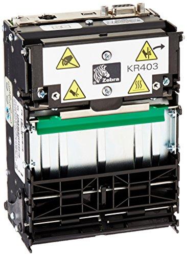 Zebra Technologies P1009545 Series KR403 Kiosk Receipt Printer, Serial and USB Connection, Black