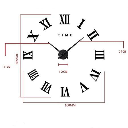 fas1 moderne diy grand pendule murale chiffres romains big montre