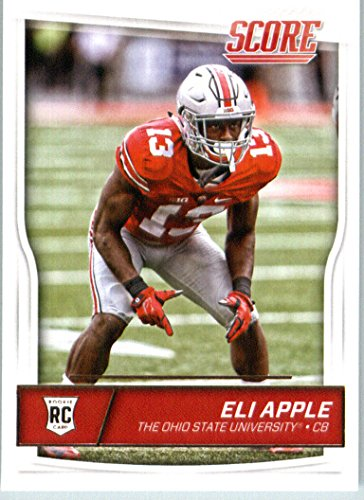 2016 Score #414 Eli Apple Ohio State Buckeyes Football Rookie Card in Protective Screwdown Display Case