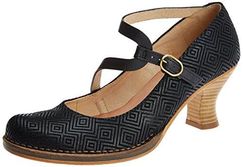 Punta Black Black Neosens Mujer Cerrada Geo S606 Fantasy para con Geo Rococo Zapatos Tacón de Negro qfTzWqr