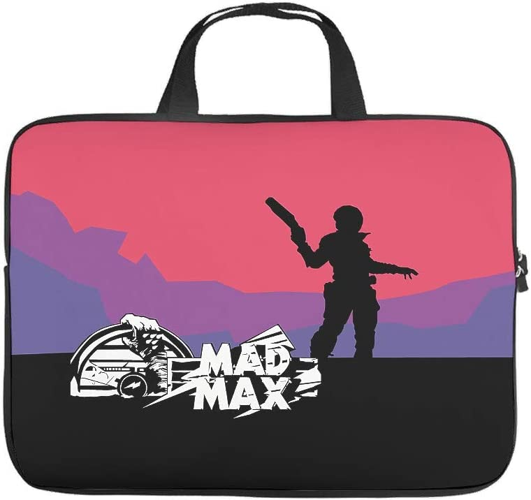 Funny Laptop Bag Mad Max Fury Road Illustration Printed Laptop Briefcase Soft Neoprene Fabric Tablet Briefcase Five White 13inch