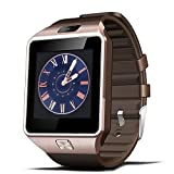 Wenhsin Bluetooth Smart Watch DZ09 Smartwatch Watch Phone Support SIM TF Card with Camera for Android IOS iPhone Samsung LG Phones (Gold)