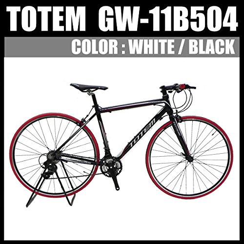 クロスバイク ロードバイク スポーツバイク 自転車 超軽量アルミフレーム 700C ダブルクイックハブ シマノ SHIMANO TOTEM トーテム 通勤通学 26インチ 11B504 700×500ブラック B076CDHK7G