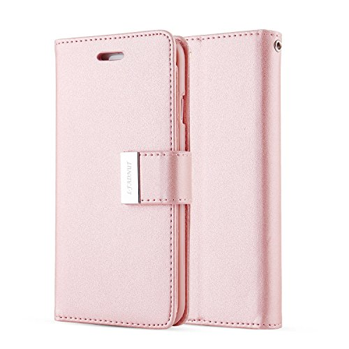For iPhone 7 Plus Case,iPhone 7 Plus Cover,L-FADNUT Premium Flip Stand Wallet PU Leather Case,[Dual Card Slots] for Apple iPhone 5.5 inch iPhone 7 Plus – Rose Gold For Sale