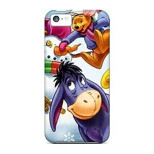 Lmf DIY phone caseGoldenArea Scratch-free Phone Case For iphone 5c- Retail Packaging - Winnie Makes A SnowmanLmf DIY phone case