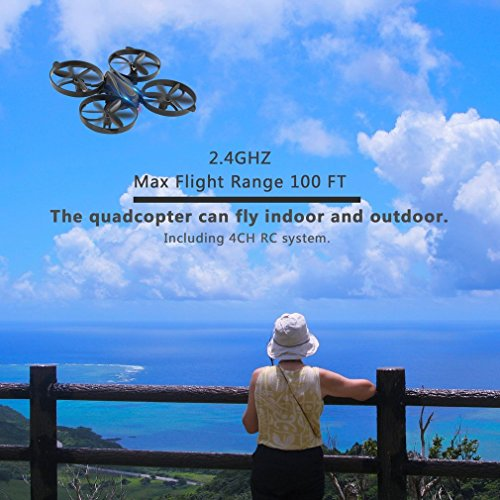 OCDAY 2.4GHz Wireless RC Drone 4 Channel Smart 6 Axis Gyro RC Quadcopter Helicopter Remote Control Toys for Kids Toys
