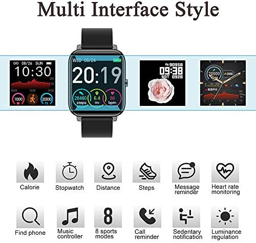 Donerton Smart Watch, Fitness Tracker for Android Phones, Fitness Tracker with Heart Rate and Sleep Monitor, Activity Tracker with IP67 Waterproof Pedometer Smartwatch with Step Counter for Women Men 51TBqFAslZL