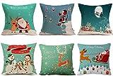 HOSL SD38 Merry Christmas Series Blend Linen Throw Pillow Case...