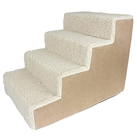 I Sport Foam Pet Stairs 4 Steps To Get On High Bed, Couch Easy