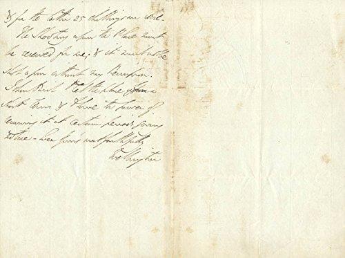 Duke (Arthur Wellesley) Of Wellington (Great Britian) Autograph Letter Signed 11/22/1819