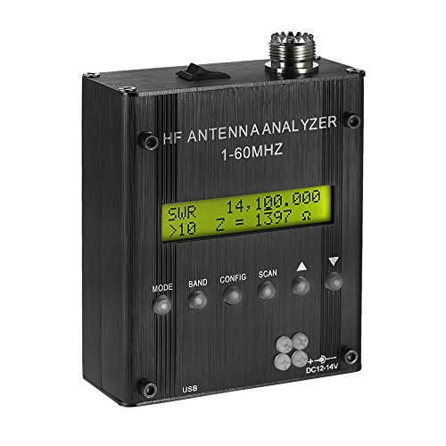 KKmoon MR300 Shortwave Antenna Analyzer Meter Tester with Bluetooth 1 to 60MHz RF SWR for Ham Radio by KKmoon