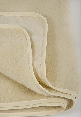 Merino Surmatelas En Laine De Mouton Pour Matelas Ecru 160x200 Cm