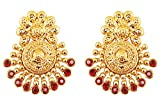 Product review for Touchstone Indian Bollywood Ancient Southern Gold Bahubali Inspired Bridal Traditional Jewelry Earrings Embellished With Faux Turquoise For Women