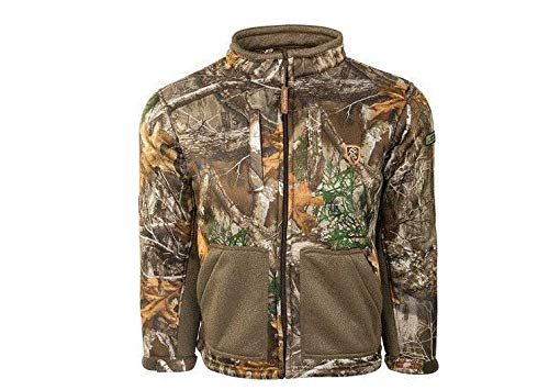 Drake Youth Silencer Full Zip Jacket with Agion Active XL - Realtree Edge (12) by Drake
