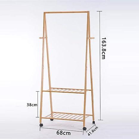 2-Capa Pie De Bambú Perchero, Inicio Dormitorio Simple ...