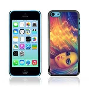 MMZ DIY PHONE CASEYOYOSHOP [Cool Neon Girl Illustration] Apple iphone 5c Case
