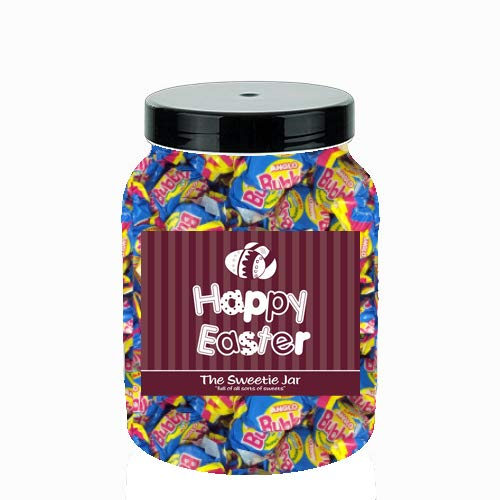 Anglo Bubbly Bubble Gum 1.2kg Sweet Jar – A Personalised Gift Jar Filled with Your Favourite Retro Sweets! (Happy Easter…