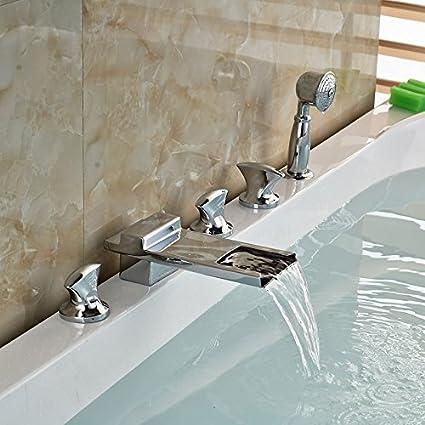 Montare Vasca Da Bagno.Contemporanea Deck Diffusa Per Montaggio A Cascata Vasca Da Bagno