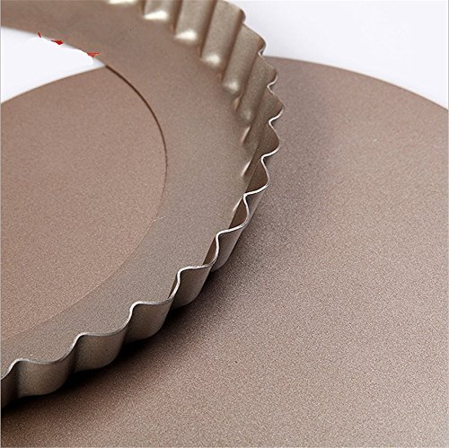 Gold Round Non Stick Baking Pan For Pie Pizza With Drop