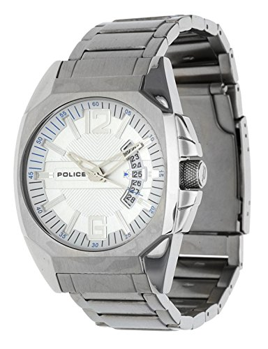 Police Men's PL-12897JS/04M Interstate Silver Dial Stainless-Steel Bracelet - Swiss Pl Watch