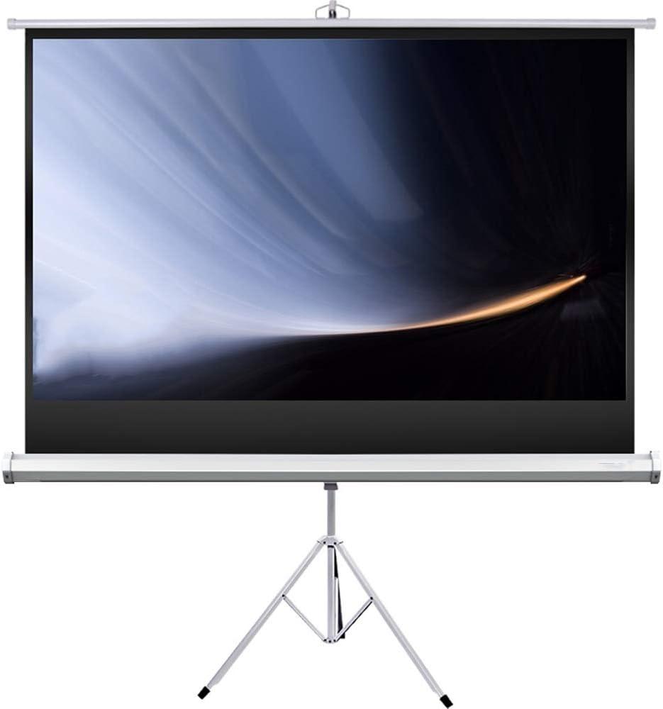 スクリーン プロジェクター 映画やオフィスのプレゼンテーションのために9 HDプレミアム三脚スクリーン:スタンド16と72インチプロジェクタースクリーン 投影用 (Color : White, Size : 72inch)