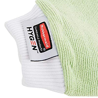 Rubbermaid Commercial FGQ65000GR00 HYGEN Microfiber All Purpose Mitt with Thumb, Green: Industrial & Scientific