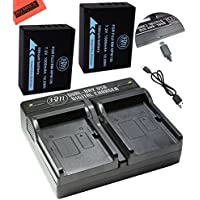 2 NP-W126 Batteries and Dual Battery Charger for FinePix X100F, X-T10, X-T20, X-Pro1, X-Pro2, HS30EXR, HS33EXR, HS35EXR, HS50EXR, XA1, XA2, XA3, X-E1, X-E2, X-E2S, 1 X-M1, X-T1, X-T2 Camera