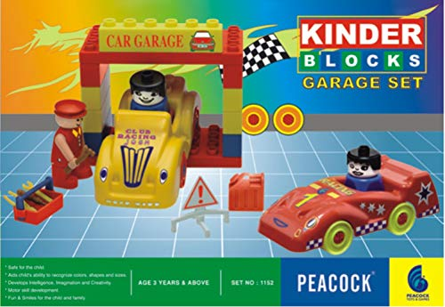 Peacock Kinder Blocks Car Garage