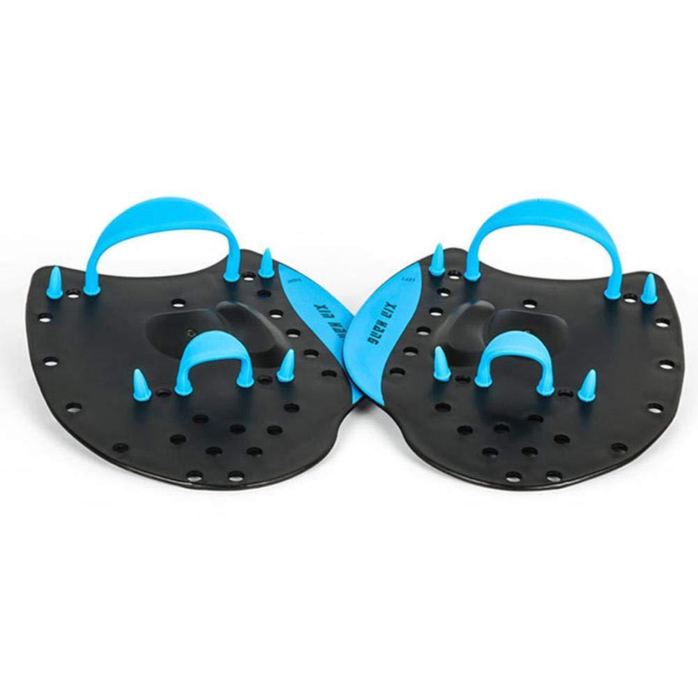 Azul MondayUp Palas de Mano Unisex para Adultos o ni/ños Nadando Small Pro-Series Power Swim Training Paddles nataci/ón Entrenamiento Ayuda a Mejorar la posici/ón de la Mano