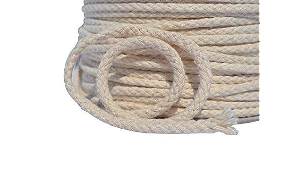 Cuerda de algodón 8 hebras 10 mm, 30 m: Amazon.es: Hogar