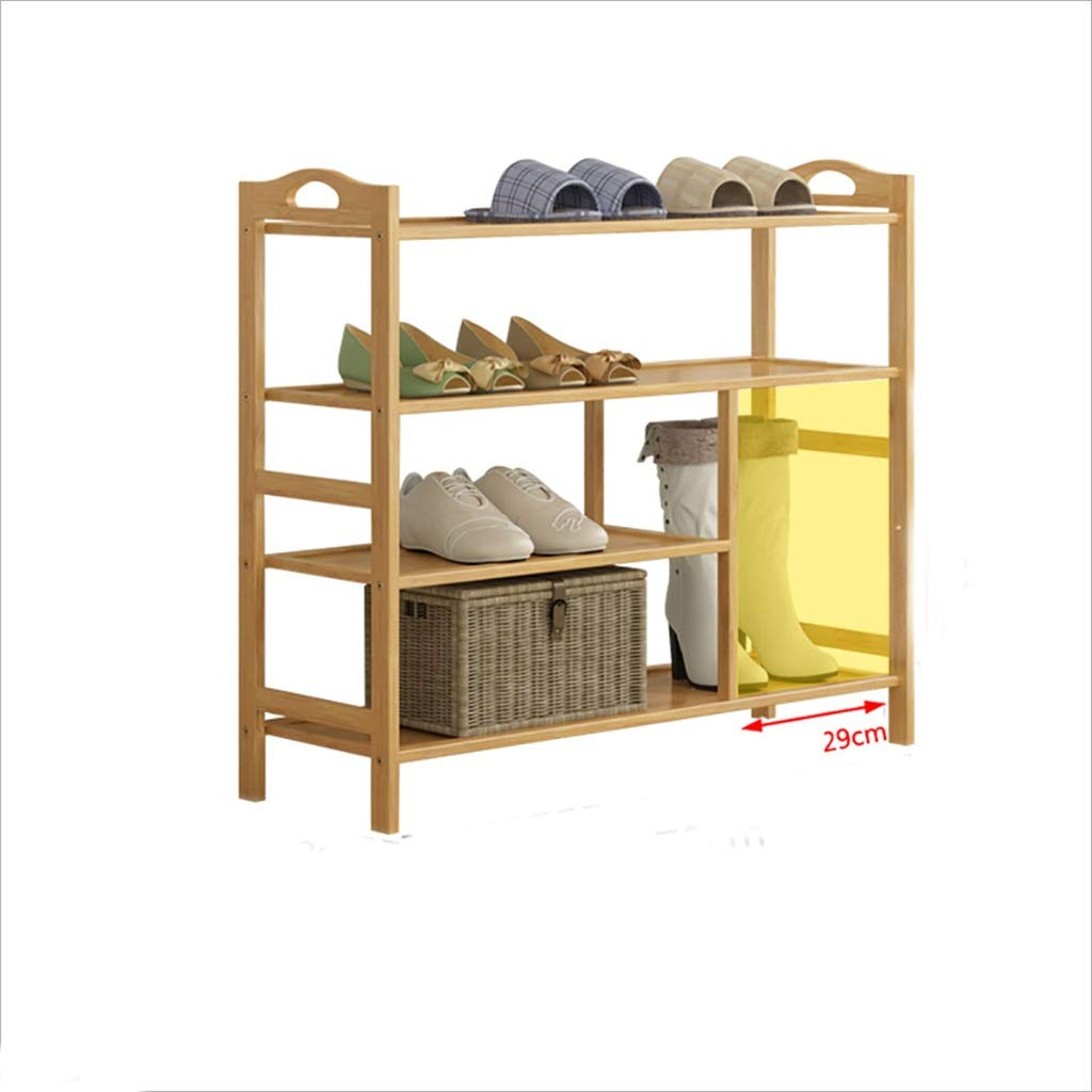 702670cm shoes Bench Organizing Rack Natural Bamboo shoes Rack 4 Layers dustproof Solid Wood Bamboo shoes Boots Shelf (Size   80  26  70cm)
