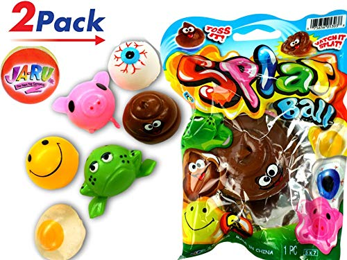 JA-RU Splat Ball Sticky & Stretchy (Pack of 2) Styles May Vary. 5303-2slp -