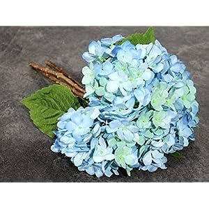 3 PCS Artificial Silk Hydrangea Flower Bouquets Home Garden Party Wedding Decor Design 2