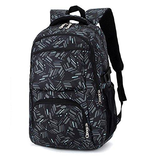 LF&F Backpack Student Rucksack Schultasche College Wind 30L KapazitäT Hochwertige Nylon Laptop Tasche Unisex Freizeit Outdoor Reisetasche GepäCk Tasche Daypacks Portable Tasche D