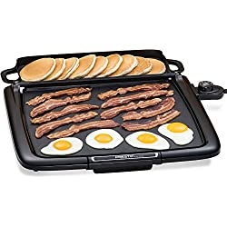 Electric Griddle Pan/Warmer Plus Presto Cool-touch. Grill Combo 14x15-inch Nonstick Cooking Surface Exclusive Kitchen Multi-Function Efficient Square Pancakes, Eggs & Sandwiches Control Master Heat