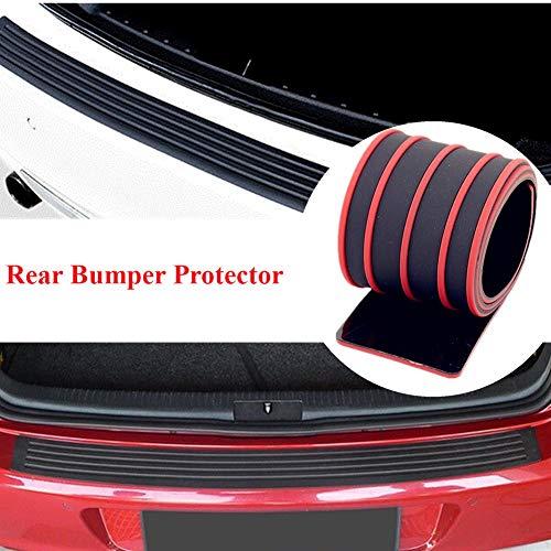 - esolun Car Bumper Protector (Black+Red)-Universal Car Rear Bumper Sill/Protector Plate Rubber Cover Guard Trim Door Entry Sill Guard Anti-Scratch Cover