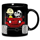 Charlie Brown Snoopy Jeep Coffee Mug 11oz & 15oz Ceramic Tea Cups