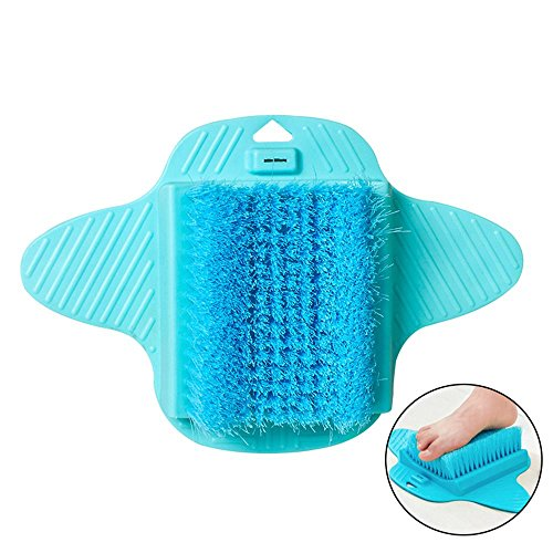 Aolvo Foot Scrubber Brush Magic Foot Cleaner Brush Massaging Foot Cleaning Washing Brush with Free Hanging Hooks & Anti-Slip Suction Cups, Exfoliating Feet Cleaner Scrub Massager Spa for Shower