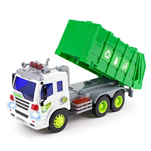 ... Toy Garbage Truck With Lights and Sounds Friction Powered Truck Toy