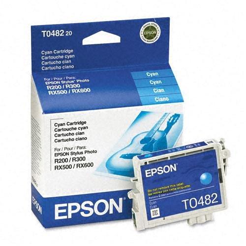 Epson T0482 Cyan Ink Cartridge - Inkjet - 430 Page - Cyan - 1