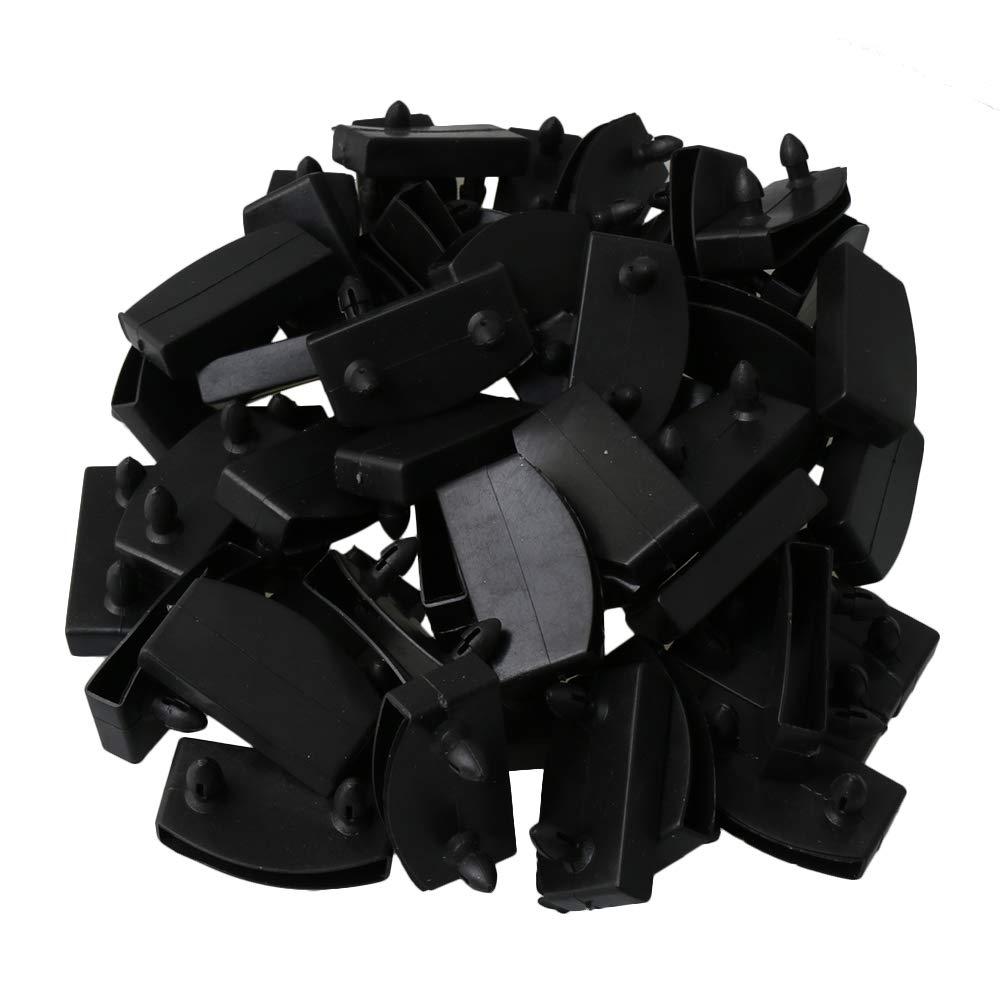 RDEXP Lot de 50 Capuchons dextr/émit/és de Lattes de lit en Plastique de Remplacement pour Maintenir et s/écuriser Les Lattes en Bois Noir