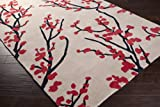 angelo:HOME by Surya Hudson Park HDP-2003 Transitional Hand Tufted 100% Polyester Feather Gray 2'6'' x 8' Floral Runner