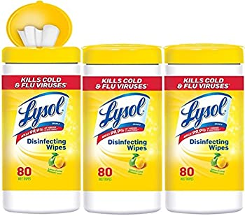 3-Pack of 80-Count Lysol Disinfecting Wipes