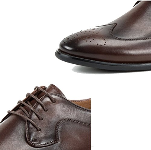 Rétro de Cuir Casual Mode Chaussures en de NIUWJ Coffeecolor Mariage Hommes Printemps Été Affaires Britannique wOZvPqt0px